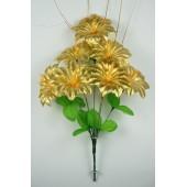 Букет колокольчиков с осокой БС019 золото