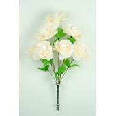 Букет роз с золотистой осокой БС035пудра