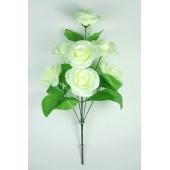 Букет атласных рифлёных роз с кашкой БС084б