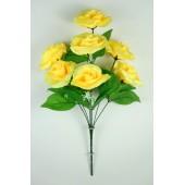 Букет атласных рифлёных роз с кашкой БС084ж