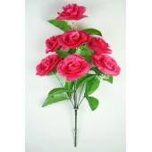 Букет атласных рифлёных роз с кашкой БС084м