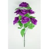 Букет атласных рифлёных роз с кашкой БС084ф