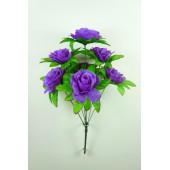 Букет роз с листом розеткой БС096чернильный