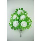 Букет гвоздики с листом хризантемы-розетки БС097б