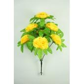 Букет гвоздики с листом хризантемы-розетки БС097ж
