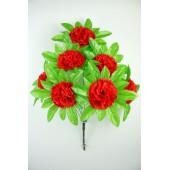 Букет гвоздики с листом хризантемы-розетки БС097к