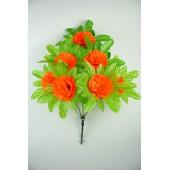Букет гвоздики с листом хризантемы-розетки БС097о