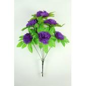 Букет гвоздики с листом хризантемы-розетки БС097чернильный