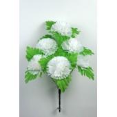 Букет гвоздики с листом хризантемы-розетки БС097-1б