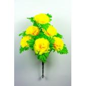 Букет гвоздики с листом хризантемы-розетки БС097-1ж