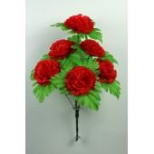 Букет гвоздики с листом хризантемы-розетки БС097-1к