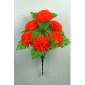 Букет гвоздики с листом хризантемы-розетки БС097-1о
