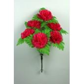 Букет гвоздики с листом хризантемы-розетки БС097-1м