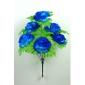Букет гвоздики с листом хризантемы-розетки БС097-1с