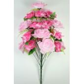 Букет роз с лавандой, БС164мал-бел