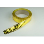 Лента ажурная 3 см * 25 у ЛЖР-3 желтый