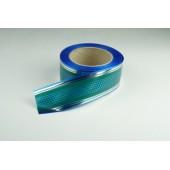 Лента с золотой полоской 5 см * 50 у с рисунком ЛЗПР-5 зел-голуб 533