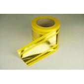 Лента с золотой полоской 8 см * 50 у с рисунком ЛЗПР-8 желтый