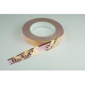 Лента с золотой полоской 2 см * 50 у ЛЗП-2 ВП розовый