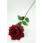 Роза одиночная бархатная ЦС095-1бордо